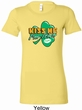 St Patrick's Day Kiss Me I'm Irish Ladies Longer Length Shirt