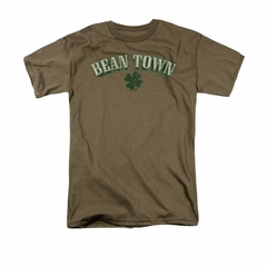 St. Patrick's Day Shirt Bean Town Adult Safari Green Tee T-Shirt