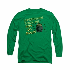 St. Patrick's Day Shirt Merry Thieves Long Sleeve Kelly Green Tee T-Shirt