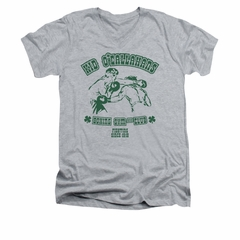 St. Patrick's Day Shirt Slim Fit V Neck Kid O'Callahan's Athletic Heather Tee T-Shirt