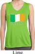 St Patrick's Distressed Ireland Flag Ladies Sleeveless Dry Wicking
