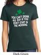 St Patricks Day Drink All Day Ladies T-shirt
