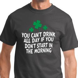 St Patricks Day Drink All Day Mens Shirts