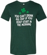 St Patricks Day Drink All Day Tri Blend Tee