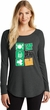 St Patricks Day Eat Drink Be Irish Ladies Tri Long Sleeve