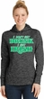 St Patricks Day I Don't Get Drunk Ladies Dry Wicking Hoodie