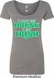 St Patricks Day I Don't Get Drunk Ladies Scoop Neck