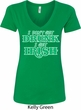 St Patricks Day I Don't Get Drunk Ladies V-Neck