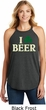 St Patricks Day I Love Beer Ladies Tri Rocker Tank Top