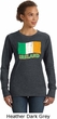 St Patricks Day Ireland Flag Ladies Crewneck Sweatshirt