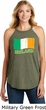 St Patricks Day Ireland Flag Ladies Tri Rocker Tank Top