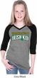 St Patricks Day Irish Kid Girls V-neck Raglan Shirt