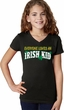 St Patricks Day Irish Kid Girls V-neck Shirt