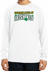 St Patricks Day Irish Kid Youth Dry Wicking Long Sleeve