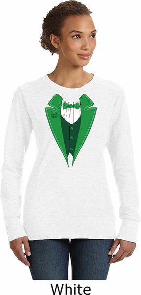 7eb3d4237 St Patricks Day Irish Tuxedo Ladies Sweatshirt - Irish Tuxedo Ladies ...