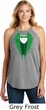 St Patricks Day Irish Tuxedo Ladies Tri Rocker Tank Top