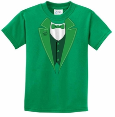 St Patricks Day Kids Shirt Irish Tuxedo Tee T-Shirt