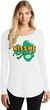 St Patricks Day Kiss Me I'm Irish Ladies Tri Long Sleeve