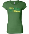 St Patricks Day Ladies Shirt 10% Irish 90% Drunk Longer Length Tee