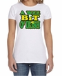 St Patricks Day Ladies Shirt A Wee Bit Irish Shamrock Crewneck Tee