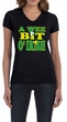 St Patricks Day Ladies Shirt A Wee Bit Irish Shamrock V-neck Tee