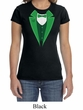 St Patricks Day Ladies Shirt Irish Tuxedo Crewneck Tee T-Shirt