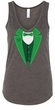 St Patricks Day Ladies Tanktop Irish Tuxedo Flowy V-neck Tank Top