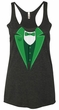 St Patricks Day Ladies Tanktop Irish Tuxedo Tri Blend Racerback Tank