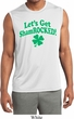 St Patricks Day Lets Get Shamrocked Dry Wicking Muscle Shirt