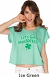 St Patricks Day Lets Get Shamrocked Ladies Boxy Tee