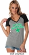 St Patricks Day Lets Get Shamrocked Ladies Contrast V-neck