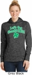 St Patricks Day Lets Get Shamrocked Ladies Dry Wicking Hoodie