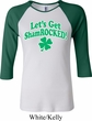 St Patricks Day Lets Get Shamrocked Ladies Raglan