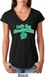 St Patricks Day Lets Get Shamrocked Ladies Tri Blend V-neck