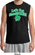 St Patricks Day Lets Get Shamrocked Muscle Shirt