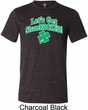 St Patricks Day Lets Get Shamrocked Tri Blend Tee
