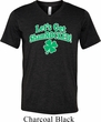 St Patricks Day Lets Get Shamrocked Tri Blend V-neck