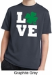 St Patricks Day Love Shamrock Kids Dry Wicking T-shirt