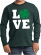 St Patricks Day Love Shamrock Kids Long Sleeve