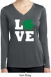 St Patricks Day Love Shamrock Ladies Dry Wicking Long Sleeve