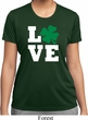 St Patricks Day Love Shamrock Ladies Dry Wicking T-shirt