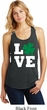 St Patricks Day Love Shamrock Ladies Racerback Tank Top