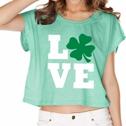 St Patricks Day Love Shamrock Ladies Shirts