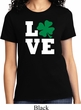 St Patricks Day Love Shamrock Ladies T-shirt