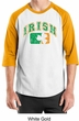 St Patricks Day Mens Shirt Distressed Irish Shamrock Raglan Tee