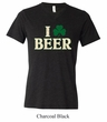 St Patricks Day Mens Shirt I Love Beer Tri Blend V-neck Tee T-Shirt