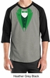 St Patricks Day Mens Shirt Irish Tuxedo Raglan Tee T-Shirt