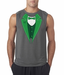 St Patricks Day Mens Shirt Irish Tuxedo Sleeveles Tee T-Shirt