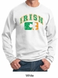 St Patricks Day Mens Sweatshirt Distressed Irish Shamrock Sweat Shirt