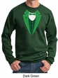 St Patricks Day Mens Sweatshirt Irish Tuxedo Sweat Shirt